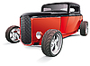 Vector clipart: red hot rod