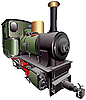 Vector clipart: steam train