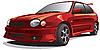Vector clipart: drag car