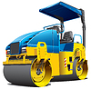 Vector clipart: double road roller