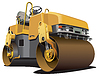 Vector clipart: small road roller