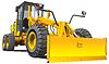 Gelb roadgrader | Stock Vektrografik