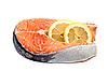 Photo 300 DPI: Salmon fillets with lemon