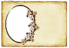 Old paper background with oval frame | Stock Illustration