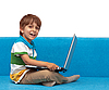 Photo 300 DPI: Boy with laptop