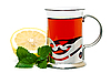Photo 300 DPI: Tea in glass holder