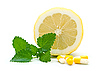 Lemon, mint and pils   Stock Foto