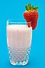 ID 3013810 | Strawberry milkshake on blue | High resolution stock photo | CLIPARTO