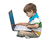 ID 3013838 | Boy with laptop isolated on white | High resolution stock photo | CLIPARTO