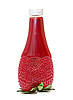 Strawberry jam in bottle strawberry shape | Stock Foto