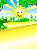Vector clipart: summer sunny day