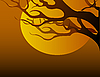 Vector clipart: tree branch at sunset