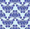 Vector clipart: seamless pattern with blue bird