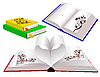 Vector clipart: Set of books with ornaments
