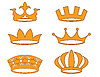 Vector clipart: Crowns