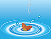 Vector clipart: Fish and rod