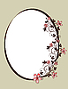 Floral oval decorative frame