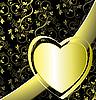 Векторный клипарт: Цветочный фон с сердечком