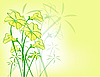 Векторный клипарт: желтый цветочный узор