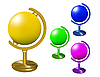 Vector clipart: Set of colored globes