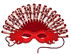 Vector clipart: Hand-held fan and mask.