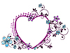 Vector clipart: floral pattern in the form of heart