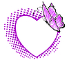Vector clipart: pattern in the form of heart