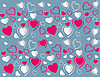 Vector clipart: heart background