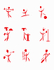 Vector clipart: set of red characters