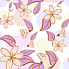 Vector clipart: Seamless floral pattern in pastel colors