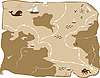 Vector clipart: old map