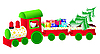 Vector clipart: christmas train