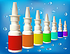 Vector clipart: medical bottles with spray