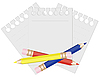 Vector clipart: Pencil and paper for notes. illustration