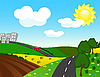 Vector clipart: road from the city