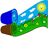 Vector clipart: Grass and Sky in rolls.