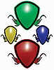 Vector clipart: colorful shields