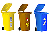 Vector clipart: Garbage bins for sorting waste