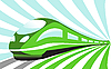 High-speed train  | Stock Vector Graphics