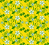 Vector clipart: yellow seamless flower pattern
