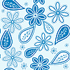 Vector clipart: seamless blue pattern