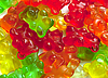 Background of gummi bears | Stock Foto