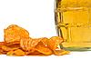 맥주와 감자 칩 | Stock Foto