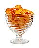 유리 그릇에 감자 칩 | Stock Foto