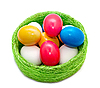 ID 3014581 | Easter eggs in wicker basket | High resolution stock photo | CLIPARTO