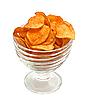 Фото 300 DPI: Картофельные чипсы в стеклянной посуде