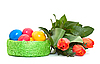 ID 3014594 | Easter eggs with bouquet of tulips | High resolution stock photo | CLIPARTO