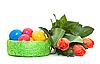 一束郁金香的复活节彩蛋 | 免版税照片