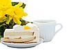 ID 3014608   Żółty kwiat, herbatę i kawałek ciasta   Foto stockowe wysokiej rozdzielczości   KLIPARTO