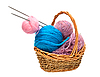 Photo 300 DPI: Yarn for knitting with knitting needles